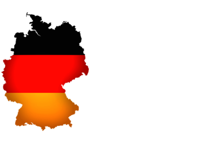 Icon of the outline map of germany with colors of the german flag